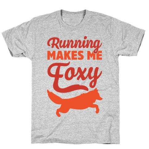 Running Makes Me Foxy Mens T-Shirt