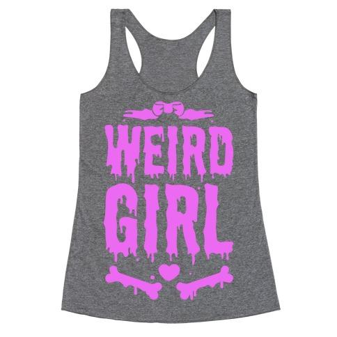 Weird Girl Racerback Tank Top