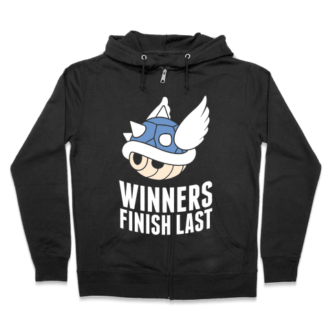Winners Finish Last In Mario Kart Zip Hoodie