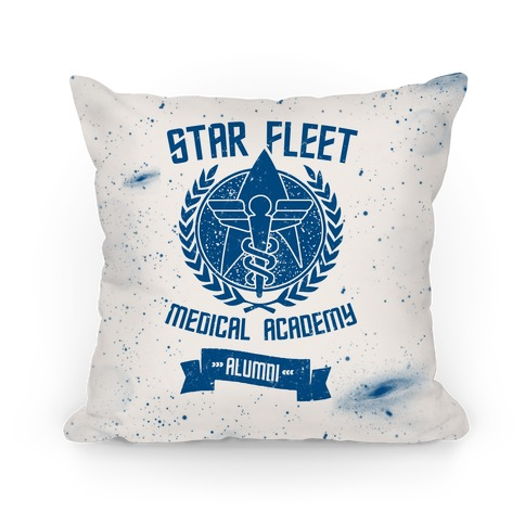 Star Fleet Medical Academy Alumni Pillow