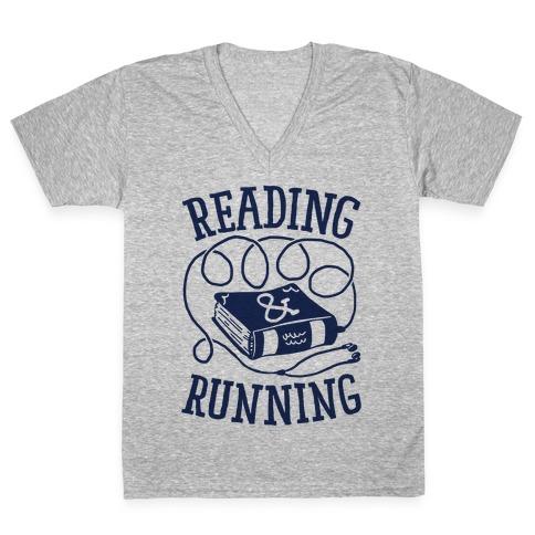 Reading & Running V-Neck Tee Shirt