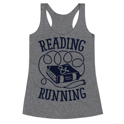 Reading & Running Racerback Tank Top