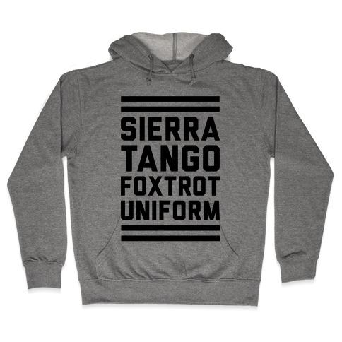 Sierra Tango Foxtrot Uniform Hooded Sweatshirt