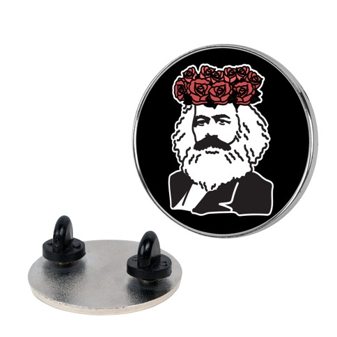 Flower Crown Karl Marx Pin