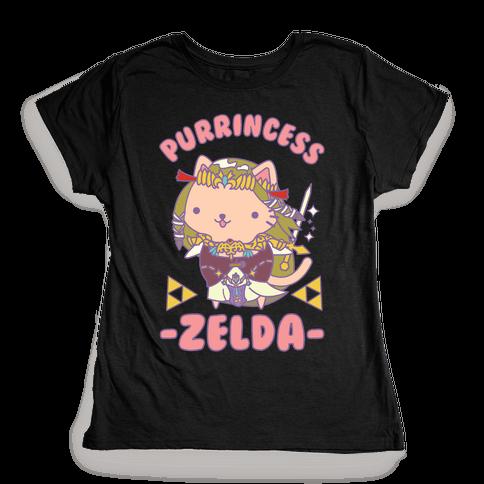 Purrincess Zelda Womens T-Shirt