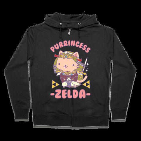Purrincess Zelda Zip Hoodie