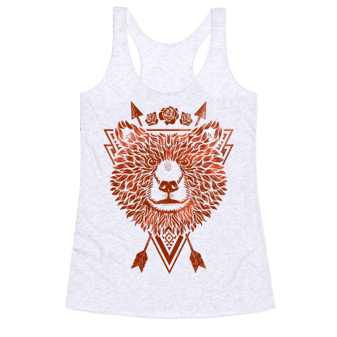 Indie Warrior Bear Racerback Tank Top