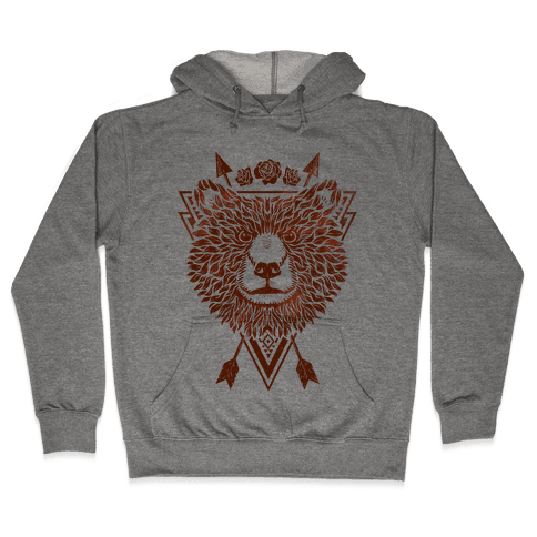 Indie Warrior Bear Hooded Sweatshirt