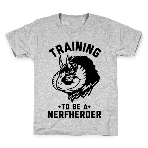 Training to Be A Nerfherder Kids T-Shirt