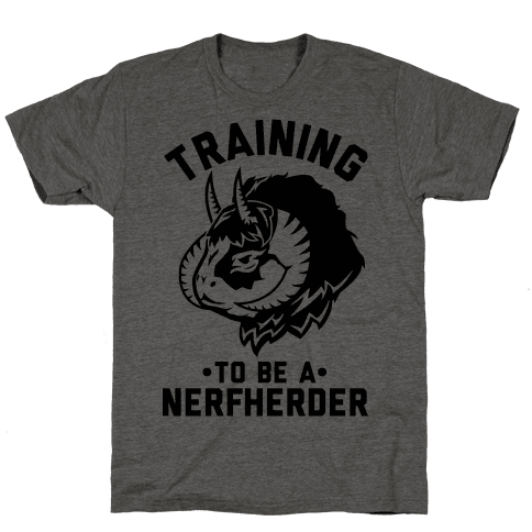 Training to Be A Nerfherder Mens T-Shirt