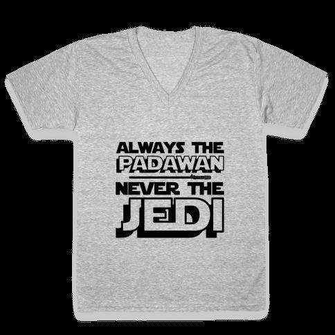 Never The Jedi V-Neck Tee Shirt