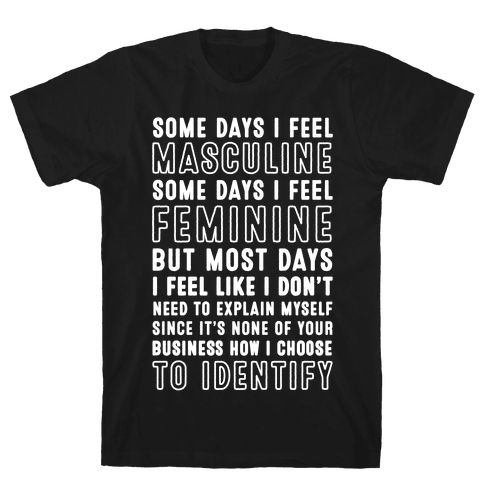 None Of Your Business How I Identify Mens T-Shirt