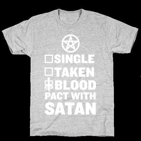 Blood Pact With Satan T Shirt Human