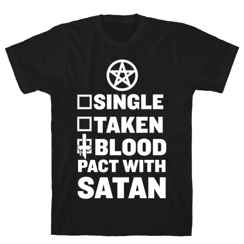 Blood Pact With Satan Mens T-Shirt