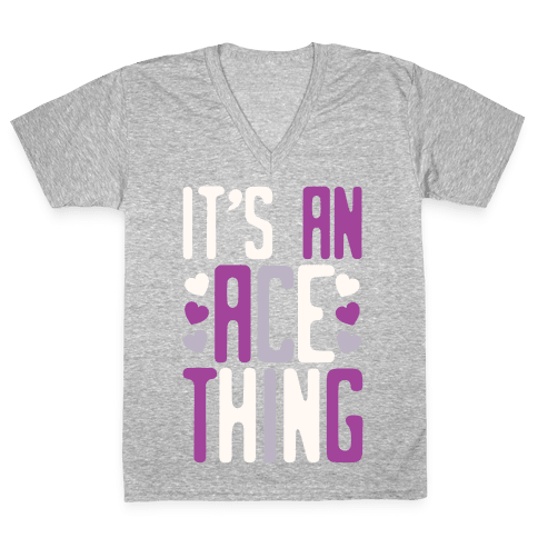 It's An Ace Thing V-Neck Tee Shirt