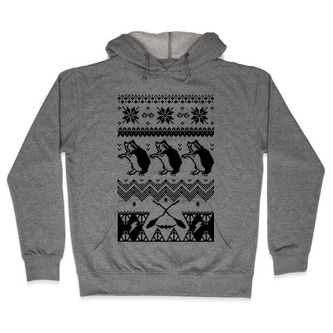 Hogwarts Ugly Christmas Sweater: Hufflepuff Hooded Sweatshirt