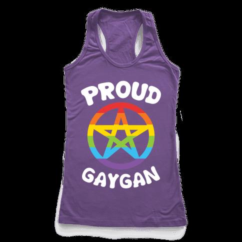 Proud Gaygan Racerback Tank Top