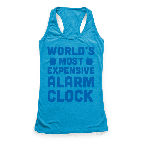 World's Most Expensive Alarm Clock Racerback Tank Top