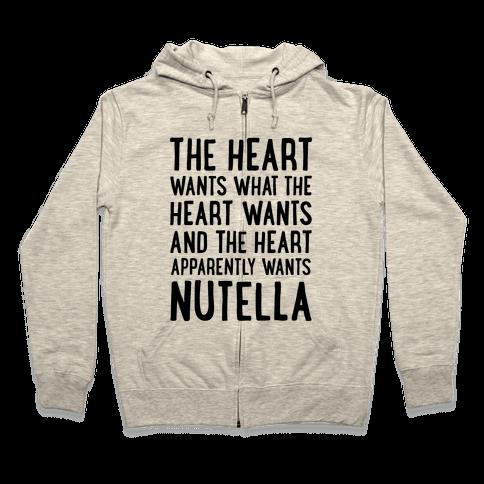 The Heart Wants Nutella Zip Hoodie