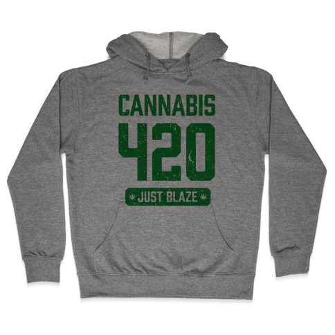 Cannabis 420 Varsity Hooded Sweatshirt