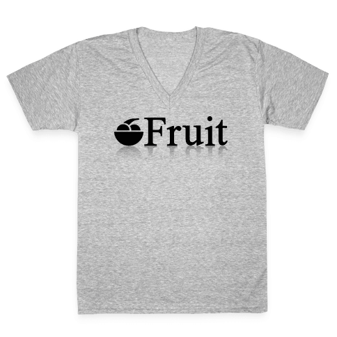 Fruit Computers V-Neck Tee Shirt
