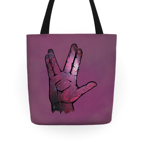 Live Long and Prosper Galaxy Tote