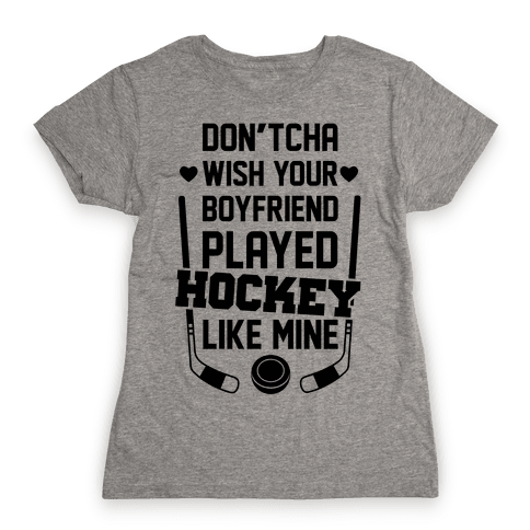 Hockey Boyfriend Womens T-Shirt