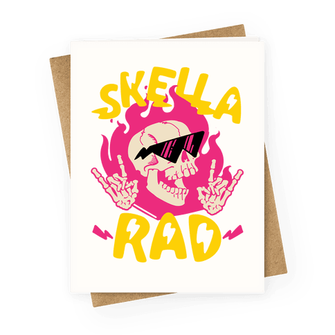 Skella Rad  Greeting Card