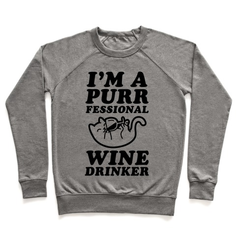 Purrfessional Wine Drinker Pullover