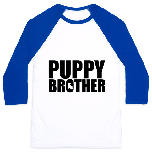 Puppy Brother Baseball Tee