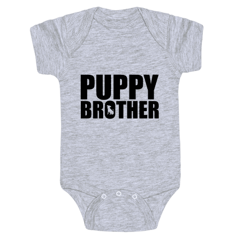 Puppy Brother Baby Onesy