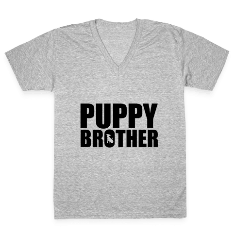 Puppy Brother V-Neck Tee Shirt