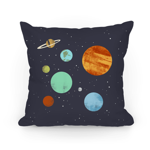 Planets Illustration Pillow
