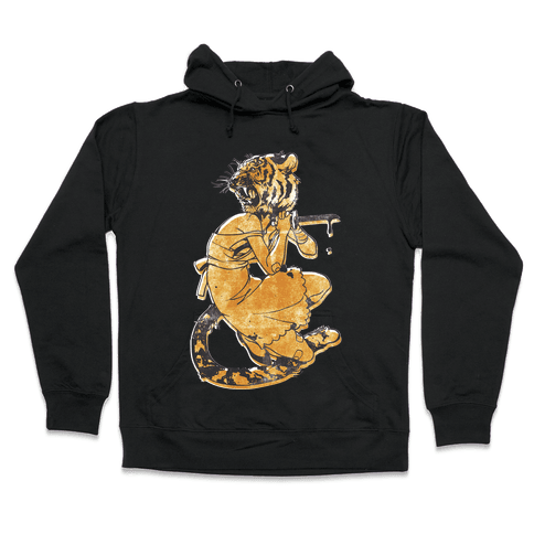 Tiger Woman Hooded Sweatshirt