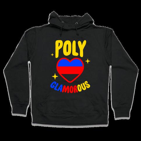 Poly Glamorous Hooded Sweatshirt