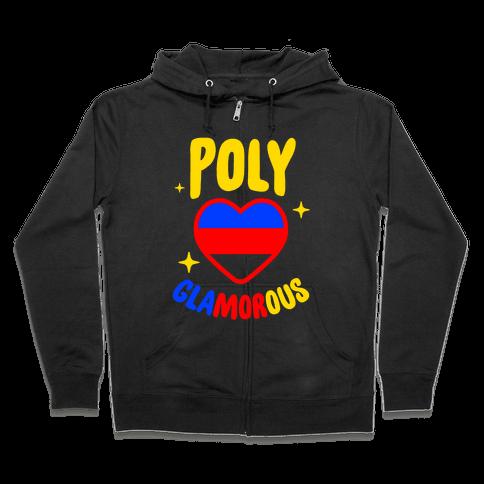 Poly Glamorous Zip Hoodie