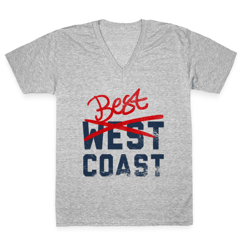 Best Coast V-Neck Tee Shirt