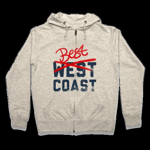 Best Coast Zip Hoodie