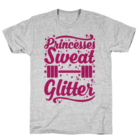 Princesses Sweat Glitter Mens T-Shirt