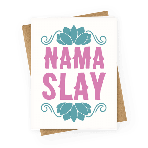 Fitness greeting cards lookhuman nama slay greeting card m4hsunfo