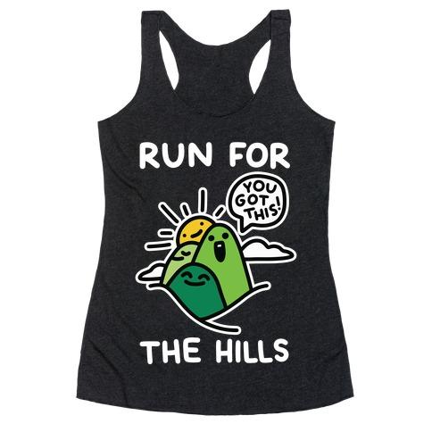 Run For The Hills Racerback Tank Top