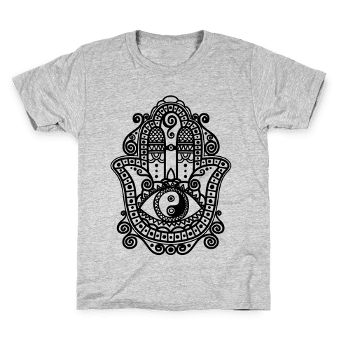Peaceful Hamsa Hand Kids T-Shirt