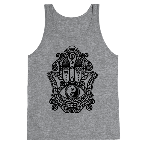 Peaceful Hamsa Hand Tank Top
