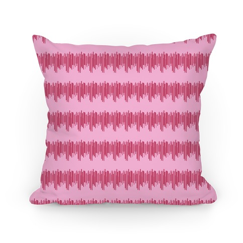 Pink Radio Wave Pattern Pillow