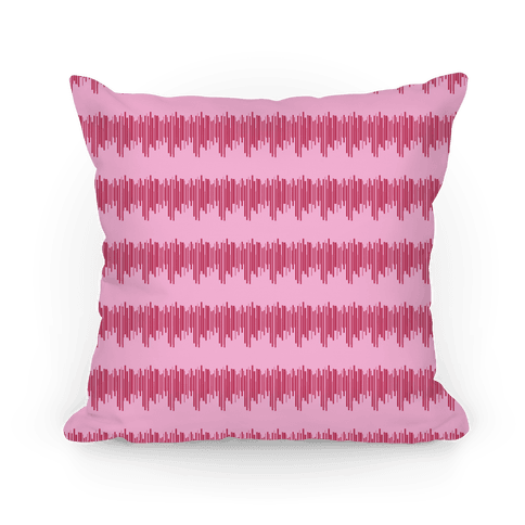Pink Radio Wave Pattern Pillow