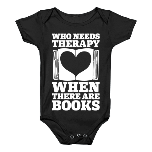 Book Therapy Baby Onesy