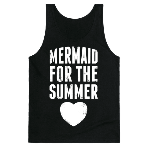 Mermaid for the Summer (White Ink) Tank Top