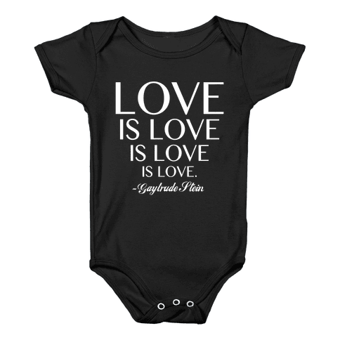 Love is Love (White) Baby Onesy