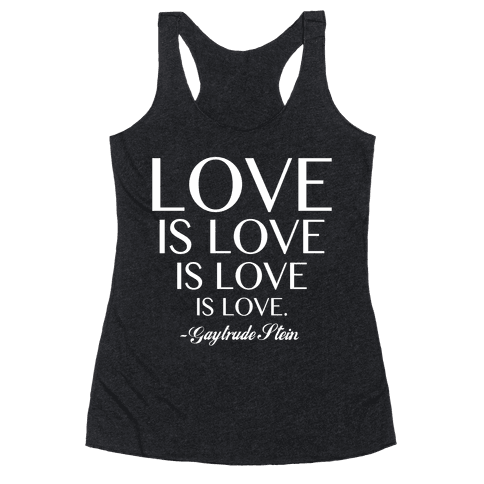 Love is Love (White) Racerback Tank Top