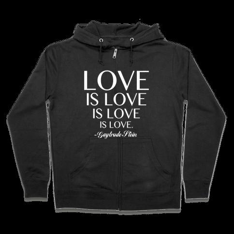 Love is Love (White) Zip Hoodie